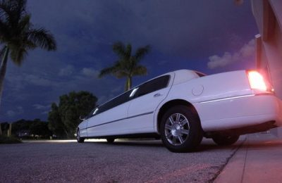 white Wedding Limo Fort Myers
