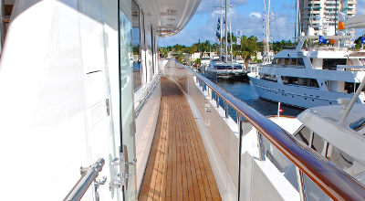 on deck yacht miami boat show