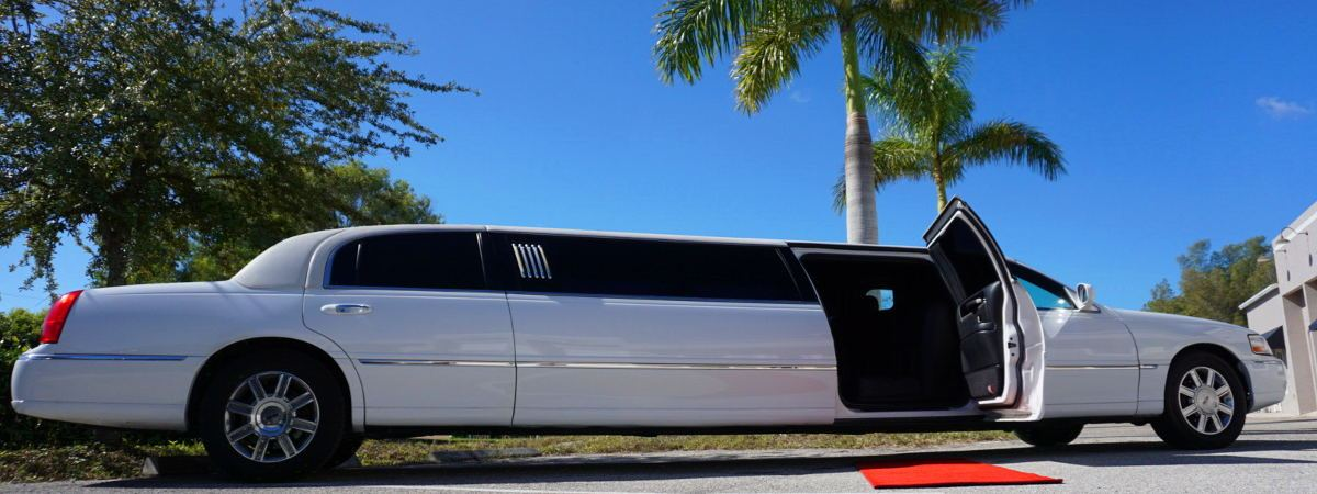 white stretch limo bus estero fort myers